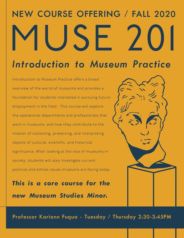 Learn more about the Minor in Museum Studies brochure